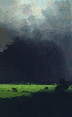 """""""After a Rain"""" by Arkhip Kuindzhi. Cloud cover is so difficult to paint convincingly but Russian artist Arkhip Kuindzhi really hits it just right. Landscape Art, Landscape Paintings, Russian Landscape, Russian Painting, Painting Art, Knife Painting, Painting Abstract, Thunderstorms, Of Wallpaper"""