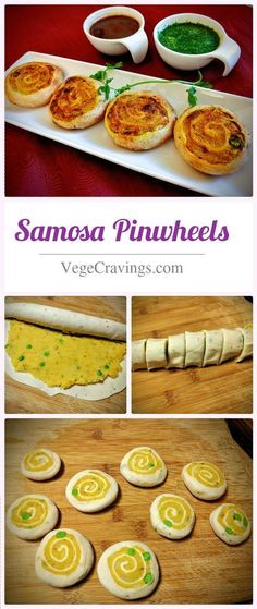 Pinwheel shaped snacks filled with a spicy potato stuffing | Indian Vegetarian Snack Recipes with Step By Step Photos #indiansnacks