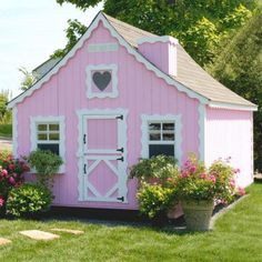Little Cottage 8 x 12 Gingerbread Wood Playhouse - Outdoor Playhouses at Play Houses love the dutch door Kids Indoor Playhouse, Outside Playhouse, Playhouse Kits, Backyard Playhouse, Build A Playhouse, Outdoor Playhouses, Backyard Playground, Little Girls Playhouse, Playhouse Slide