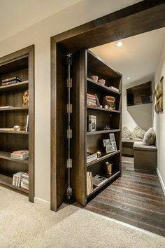book shelves, secret room