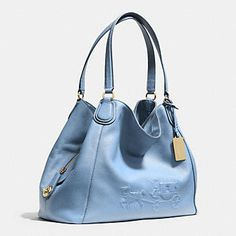 Coach :: EMBOSSED HORSE AND CARRIAGE EDIE SHOULDER BAG IN PEBBLE LEATHER