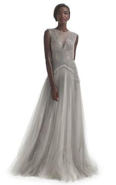 Hand Pleated Evening Gown by J. Mendel - Moda Operandi