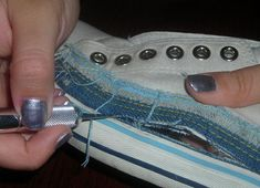 """This is an amazing way to """"redo"""" tennis shoes, but I'd just as soon go to a consignment/thrift shop and buy some cheap!"""