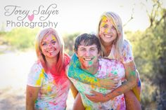 Have a paint powder fight!! SO much fun! http://toreysalyerphotography.com/blog/sibling-love-and-paint-oh-my/