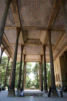 Chehel Sotun Palace, Esfahan, Iran by Mike Gadd, via Flickr