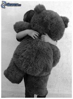 Bear hugs are the best! Teddy Bear Hug, Bear Hugs, Teddy Bears, Need A Hug, Free Hugs, Hug Me, Cute Kids, Make Me Smile, Cuddling