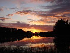 Sunset Lake Oulujärvi.