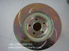 For Honda Civic 90-00 Front Brake Rotors w// Brake Pads Shoes Kit Brembo OEM