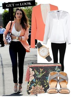 8698c97b37421 I love what Jessica Alba is wearing in this photo ! The coral color is great