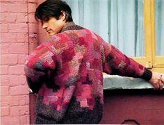 Kaffe Fassett Stone Patch sweater - red colorway