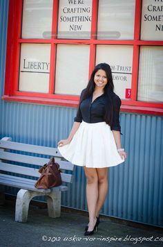 Black and White Outfit    http://uskar-vor-inspire.blogspot.ca/