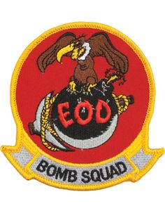 """Explosive Ordnance Disposal Bomb Squad with Buzzard Patch 4"""""""