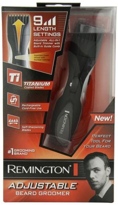 Remington MB-200 Titanium Mustache and Beard Trimmer #Remington