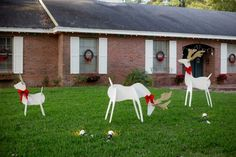 Christmas Reindeer and Angel Wooden Yard Decorations DIY