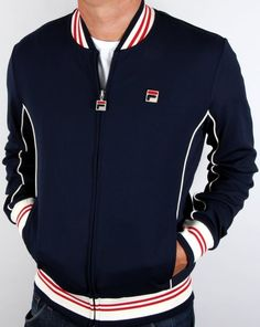 Fila Vintage Baranci Track Top Navy,tracksuit,jacket,mens
