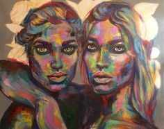 Painting by Isabelle Ewing