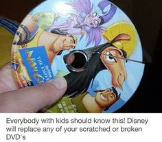 Disney will replace any scratched up or broken DVDs