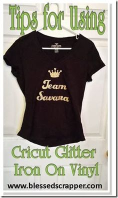 Tips for Using Cricut Glitter Iron on Vinyl                                                                                                                                                                                 More