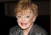 """[Eddi-] Rue McClanahan -- (2/21/1934-6/3/2010). American Actress, Comedian, Author, Fashion Designer, Animal Welfare Advocate & (PETA). She portrayed Vivian Harmon on TV Series """"Maude"""", Fran Crowley on """"Mama's Family"""", Blanche Devereaux on """"The Golden Girls"""" & """"The Golden Palace"""". Movies -- """"Children of the Bride"""" as Margret Becker and """"Baby of the Bride"""" as Margret Becker-Hix, """"A Saintly Switch"""" as Aunt Fanny. She died from a Brain Hemorrhage, age 76."""