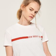 PRINTED t-shirt, T-SHIRTS, white, RESERVED