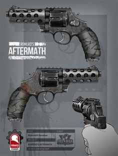 romero's aftermath - makeshift revolver, Kris Thaler on ArtStation at https://www.artstation.com/artwork/romero-s-aftermath-makeshift-revolver