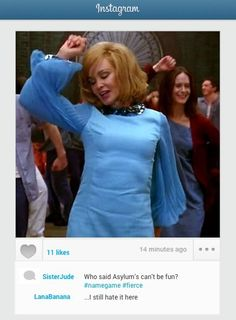 """When Sister Jude gets into the spirit of things:   Community Post: If """"American Horror Story"""" Characters Had Instagram"""