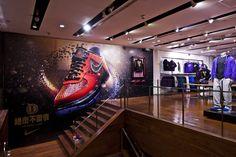Expositores criados para Nike.