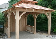 Custom cedar pavilion by Flamborough Patio Lawn And Garden, Home And Garden, Ontario, Gazebo, Home Improvement, Outdoor Structures, Patio, Yard Furniture, Sheds