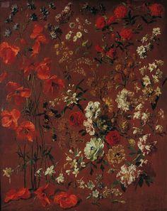 Study of Flowers, 1720  Hyacinthe Rigaud