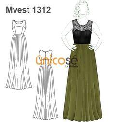 Patrones vestidos largos mujer