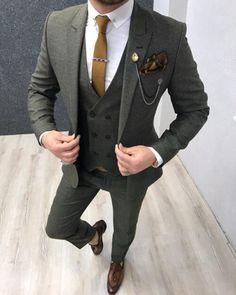Suits – Page 6 – brabion Plaid Suit, Suit Vest, Wool Suit, Grey Slim Fit Suit, Slim Fit Khakis, Serie Suits, Green Suit, Blue Suits, Designer Suits For Men