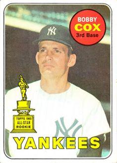 1969 Topps #237 Bobby Cox Front Baseball Park, Major League Baseball Teams, Mlb Teams, Baseball Players, Yankees Logo, Damn Yankees, New York Yankees, Old Baseball Cards, Atlanta Braves