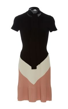 Short Sleeve Knit Mini Dress by RED VALENTINO Now Available on Moda Operandi