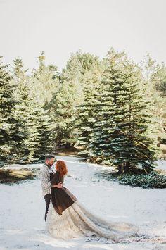 Blanco y Caramelo: BODA DE INVIERNO EN LA NIEVE / SNOWY WINTER WEDDING