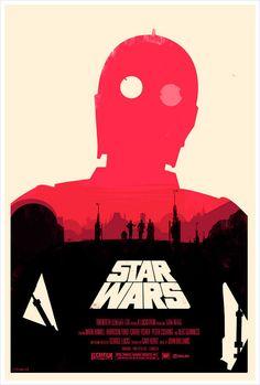 올리 모스 Olly Moss 스타워즈 포스터 색채대비와 포인트인 레드가 매치가잘되어있다.