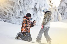 Secret Proposal | Snowboarding proposal | She said yes | British Columbia | Vernon