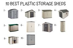 Plastic Storage Shed Buying Guide - Home Furniture Design Storage Shed Organization, Entryway Shoe Storage, Dorm Room Storage, Storage Shed Plans, Storage Design, Plastic Storage Sheds, Plastic Sheds, Small Space Storage, Built In Storage