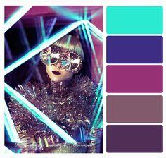 Color Palette neon futuristic