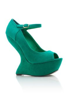 suede heel-less peep-toe platforms- DO I need them? No Will I probably need surgery after wearing them? Yes...will I be buying them? Oh most definitely