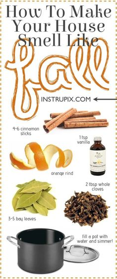 Easy Stovetop PotPourri Recipes For Every Season If you& looking for an . 6 Easy Stovetop PotPourri Recipes For Every Season If you're looking for an . - Easy Stovetop PotPourri Recipes For Every Season If you're looking for an . Diy Cleaning Products, Cleaning Hacks, Diy Hacks, Fall Cleaning, Limpieza Natural, House Smell Good, Home Scents, Diy Fall Scents House Smells, Easy