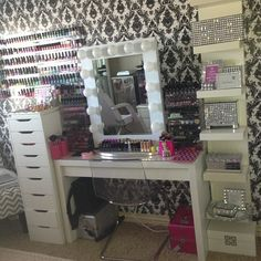 Wow my daughter would love this especially the shelf of nail polish lol.. She is a collector of that with 100 bottles and counting