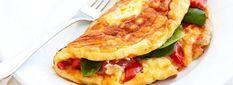 Omelet con Espinacas, Tomate y Queso de Cabra
