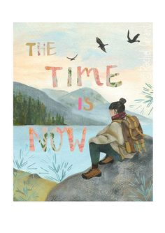Illustrations and Surface Pattern by Rachel Grant Environmental Posters, Rachel Grant, The Time Is Now, New Print, Arts And Crafts Supplies, Mountain View, Surface Pattern, Crafts To Do, Watercolor Paper