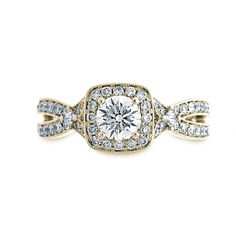 Fink's Jewelers - Fink's 14K Yellow Gold Diamond Split Shank Engagement Ring, $4,150.00 (http://finksjewelers.com/finks-14k-yellow-gold-diamond-split-shank-engagement-ring/)
