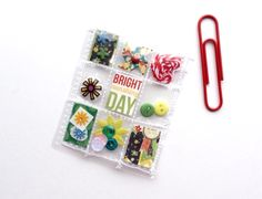 Whimsical Micro Mini Pocket Letter Planner Charm by Jackie Benedict
