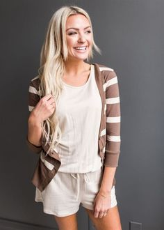 Perfect for throwing on over all your favorite looks this season, our Striped Summer Cardi adds a dose of fun to any outfit! Super soft, this darling cardigan will be your go-to all summer long!