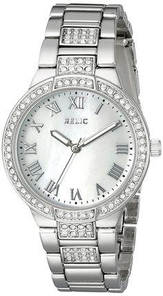 3da4cd55ec6 Relic Women s ZR34325 Julia Analog Display Quartz Silver Watch     Be sure  to check