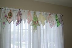 hankie valance by micisip, via Flickr