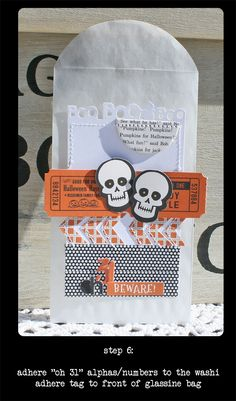 tuesday tutorial--halloween gift bags - Step by Step Instructions - October Afternoon