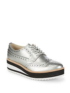 KENNETH COLE RAVI OXFORD BROGUE WEDGE OXFORD. #kennethcole #shoes #